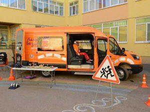 «Лаборатория безопасности» вновь приступила к обучению детей на Ford Transit